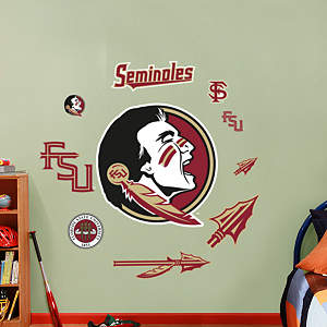 Florida State Seminoles - Team Logo Assortment Fathead Wall Decal